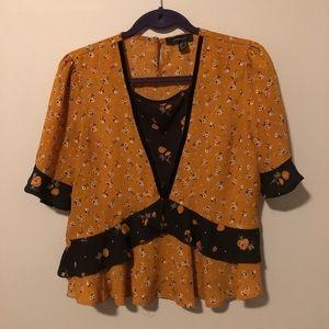 Tops - Vintage Short sleeve blouse